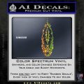 Indian Feather Vinyl Decal Sticker DV Sparkle Glitter Vinyl 120x120