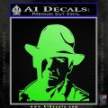 Indiana Jones Profile Decal Sticker Lime Green Vinyl 120x120