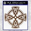 Irish Celtic Cross D7 Decal Sticker Brown Vinyl 120x120