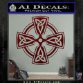 Irish Celtic Cross D7 Decal Sticker Dark Red Vinyl 120x120