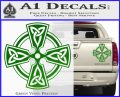 Irish Celtic Cross D7 Decal Sticker Green Vinyl 120x97