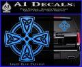 Irish Celtic Cross D7 Decal Sticker Light Blue Vinyl 120x97