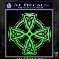 Irish Celtic Cross D7 Decal Sticker Lime Green Vinyl 120x120