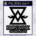 Iron Bank Of Braavos Decal Sticker Game Of Thrones Black 120x120