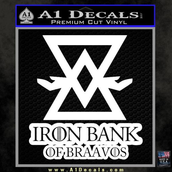 Iron Bank Of Braavos Decal Sticker Game Of Thrones White