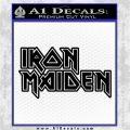 Iron Maiden Decal Sticker Stacked Black Logo Emblem 120x120