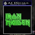 Iron Maiden Decal Sticker Stacked Lime Green Vinyl 120x120