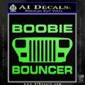 Jeep Boobie Bouncer Decal Sticker Lime Green Vinyl 120x120
