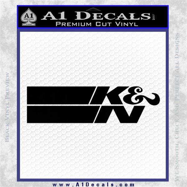 K N Logo D2 Decal Sticker VZL Black Logo Emblem