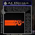 K N Logo D2 Decal Sticker VZL Orange Vinyl Emblem 120x120