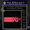K N Logo D2 Decal Sticker VZL Pink Vinyl Emblem 120x120