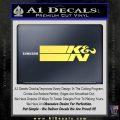 K N Logo D2 Decal Sticker VZL Yelllow Vinyl 120x120