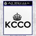 KCCO Keep Calm Chive On Decal Sticker DS Black Logo Emblem 120x120