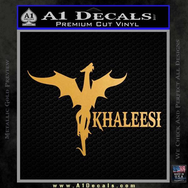 Khaleesi Dragon Decal Sticker Metallic Gold Vinyl