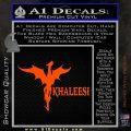 Khaleesi Dragon Decal Sticker Orange Vinyl Emblem 120x120