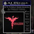 Khaleesi Dragon Decal Sticker Pink Vinyl Emblem 120x120