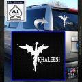 Khaleesi Dragon Decal Sticker White Emblem 120x120