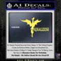 Khaleesi Dragon Decal Sticker Yelllow Vinyl 120x120