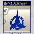 Klingon Supreme Commander Decal Sticker Star Trek Blue Vinyl 120x120