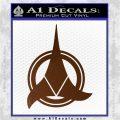 Klingon Supreme Commander Decal Sticker Star Trek Brown Vinyl 120x120