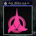 Klingon Supreme Commander Decal Sticker Star Trek Hot Pink Vinyl 120x120