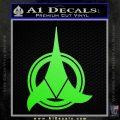 Klingon Supreme Commander Decal Sticker Star Trek Lime Green Vinyl 120x120
