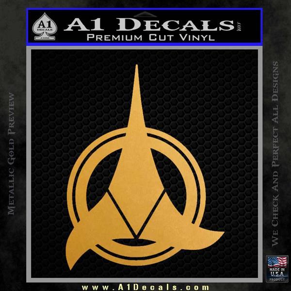 Klingon Supreme Commander Decal Sticker Star Trek Metallic Gold Vinyl Vinyl