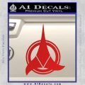 Klingon Supreme Commander Decal Sticker Star Trek Red Vinyl 120x120