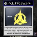 Klingon Supreme Commander Decal Sticker Star Trek Yelllow Vinyl 120x120