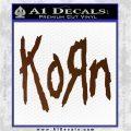 Korn Band Decal Sticker Brown Vinyl 120x120