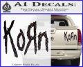 Korn Band Decal Sticker Carbon Fiber Black 120x97