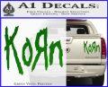 Korn Band Decal Sticker Green Vinyl 120x97