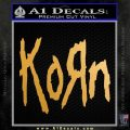 Korn Band Decal Sticker Metallic Gold Vinyl Vinyl 120x120