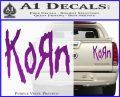 Korn Band Decal Sticker Purple Vinyl 120x97