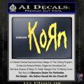 Korn Band Decal Sticker Yelllow Vinyl 120x120
