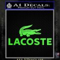 LaCoste Decal Sticker Lime Green Vinyl 120x120