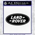 Land Rover Decal Sticker Black Logo Emblem 120x120