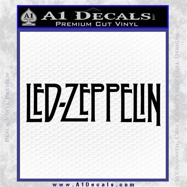 Led Zeppelin Decal Sticker Logo Black Logo Emblem