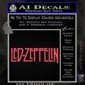 Led Zeppelin Decal Sticker Logo Pink Vinyl Emblem 120x120