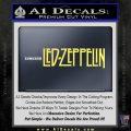Led Zeppelin Decal Sticker Logo Yelllow Vinyl 120x120
