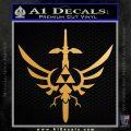 Legend of Zelda Triforce Masterword Decal Sticker Metallic Gold Vinyl Vinyl 120x120