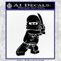 Lego Ninja Ninjago DLB Decal Sticker Black Logo Emblem 120x120