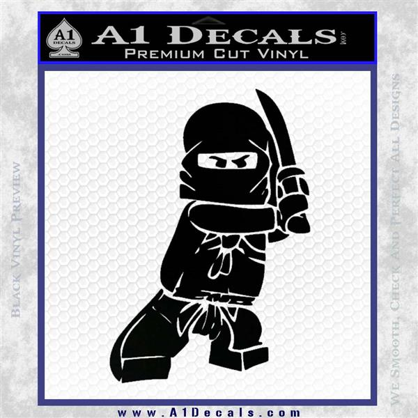 Lego Ninja Ninjago DLB Decal Sticker Black Logo Emblem