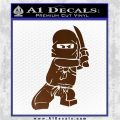 Lego Ninja Ninjago DLB Decal Sticker Brown Vinyl 120x120