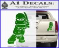 Lego Ninja Ninjago DLB Decal Sticker Green Vinyl 120x97