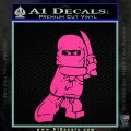 Lego Ninja Ninjago DLB Decal Sticker Hot Pink Vinyl 120x120