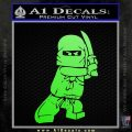 Lego Ninja Ninjago DLB Decal Sticker Lime Green Vinyl 120x120