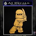 Lego Ninja Ninjago DLB Decal Sticker Metallic Gold Vinyl Vinyl 120x120