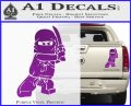 Lego Ninja Ninjago DLB Decal Sticker Purple Vinyl 120x97