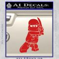 Lego Ninja Ninjago DLB Decal Sticker Red Vinyl 120x120